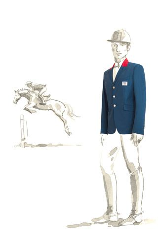 Hermes French Olympics Equestrian Kit: In Style, French Olympics, Olympics Games, Equestrian Kit, Fashion Illustration, Olympics Equestrian