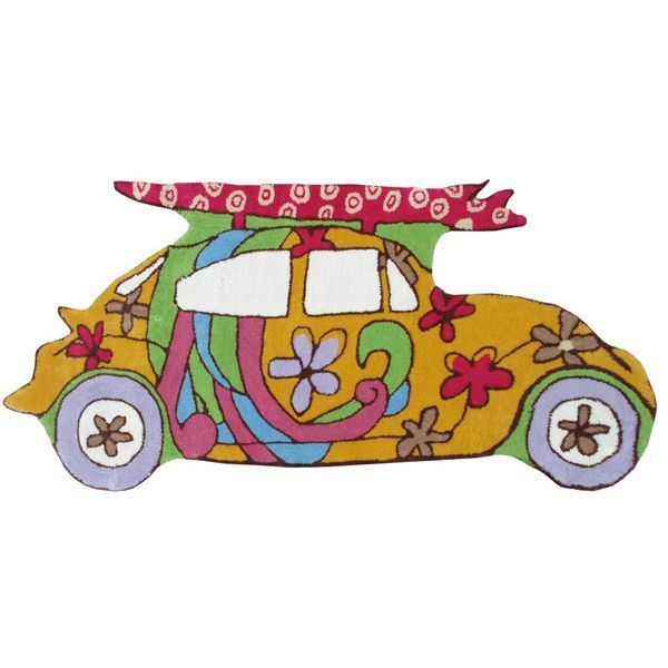 Beach Bugy Rug www.sweetretreatkids.com #sweetretreatkids #beachart #beachprint #oceanart #oceanprint #surferprint #kidswallart #wallart #surfingprint #beachbuggy