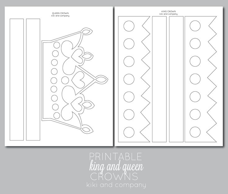 Clever image for printable crown