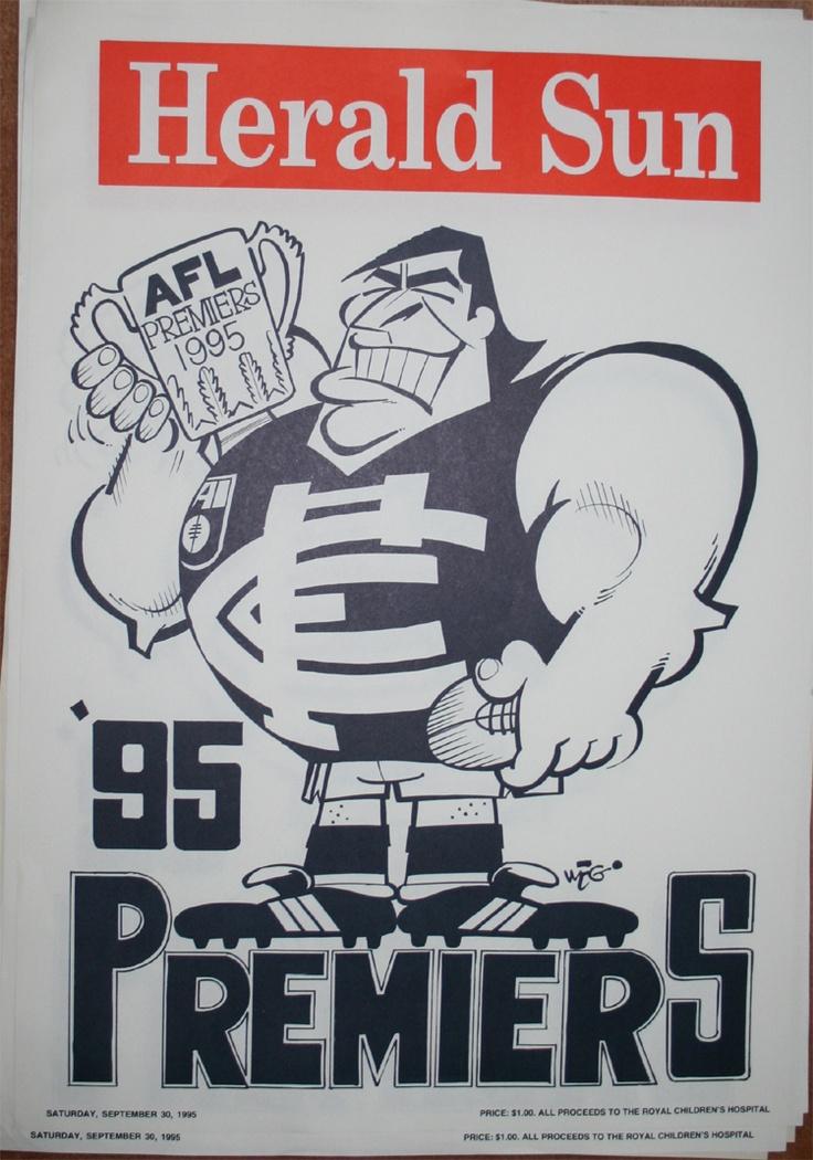 Weg Premiers Poster 1995 Carlton Blues