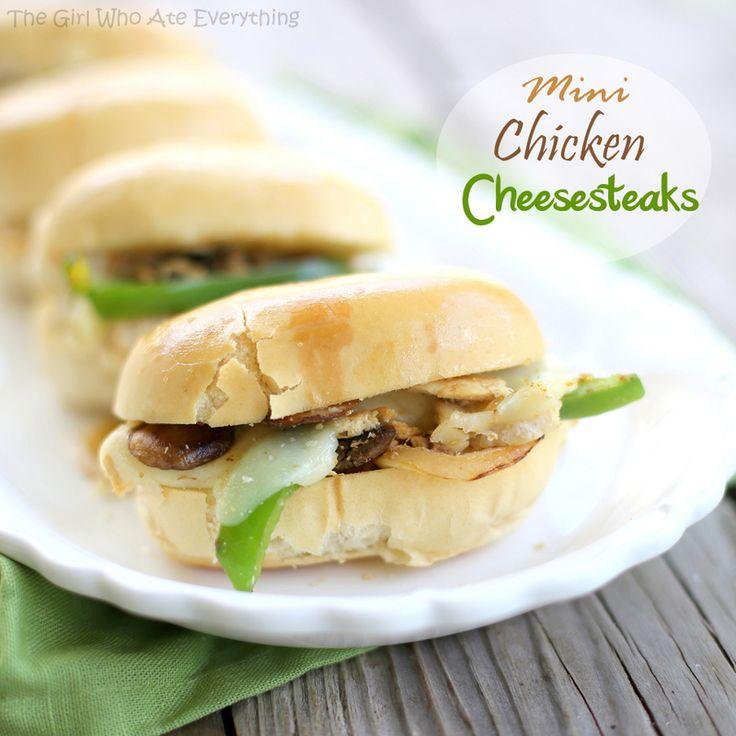 Mini Chicken Cheesesteaks