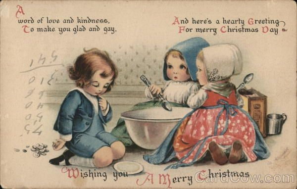 Wishing You a Merry Christmas Ellen Clapsaddle