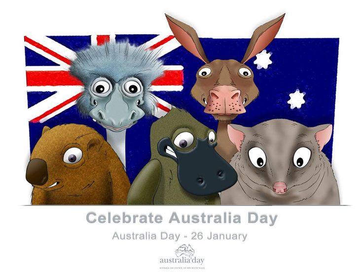 Australia Day #cartoon #fauna | pinterest.com/visitaustralia