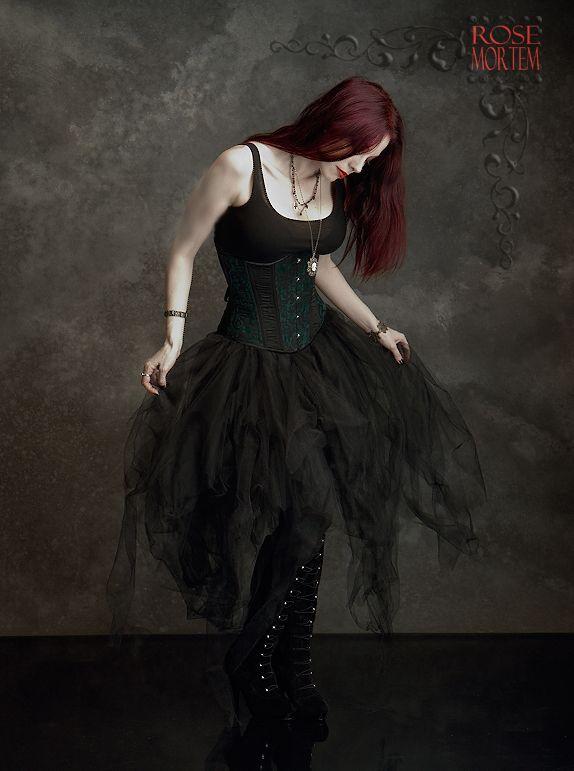Romantic gothic skirt cosette tulle by rose mortem