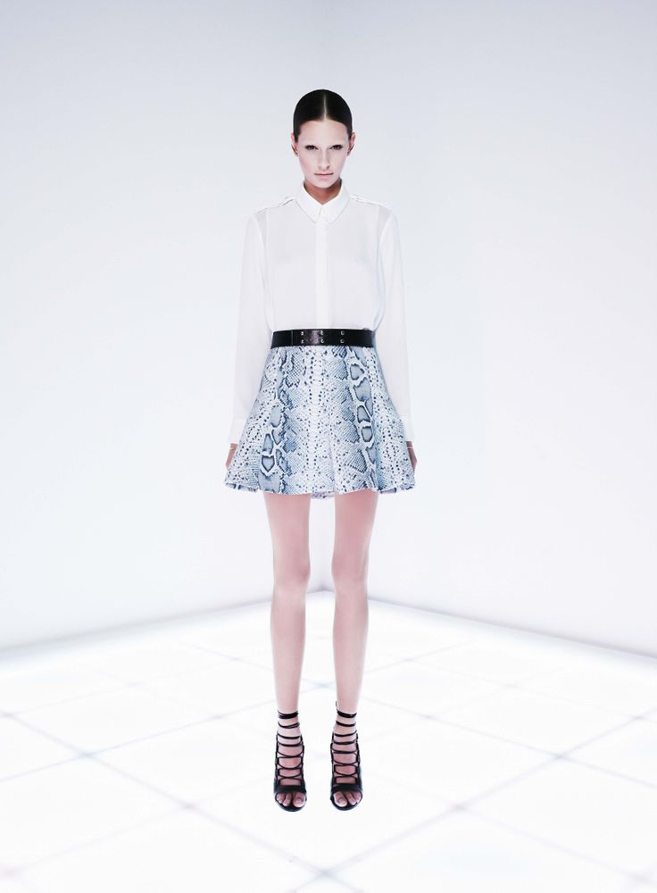 Blacklist Shirt and Overwrite Skirt by CAMILLA AND MARC http://www.camillaandmarc.com/overwrite-skirt-snake-print.html