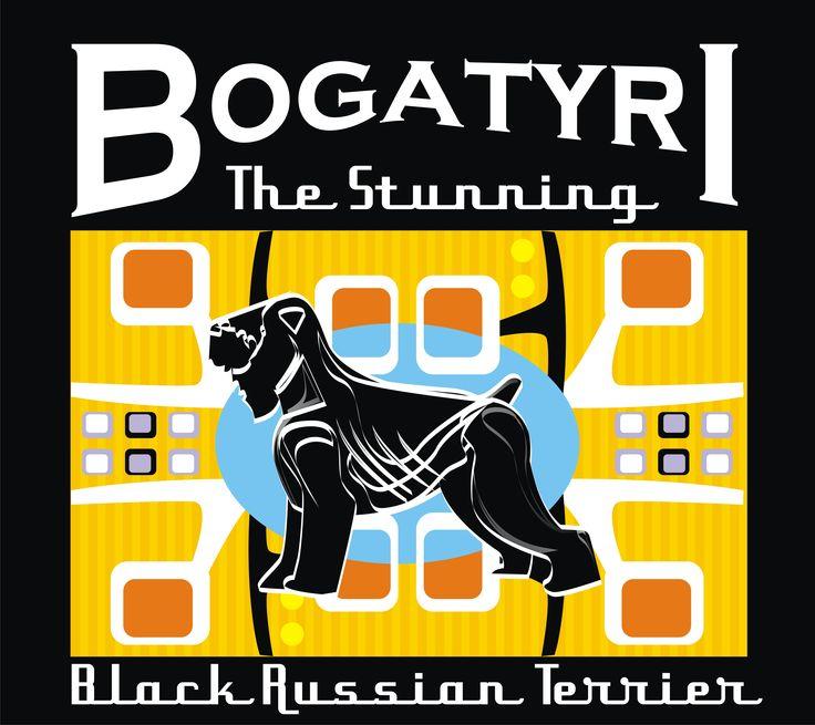 Terrier ruso negro,  Black russian Terrier