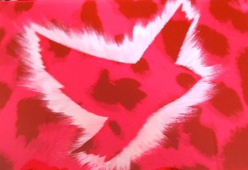 PeaceBomb Flou on Spots Miaaw.com #peace #Peacebombs #art #pink