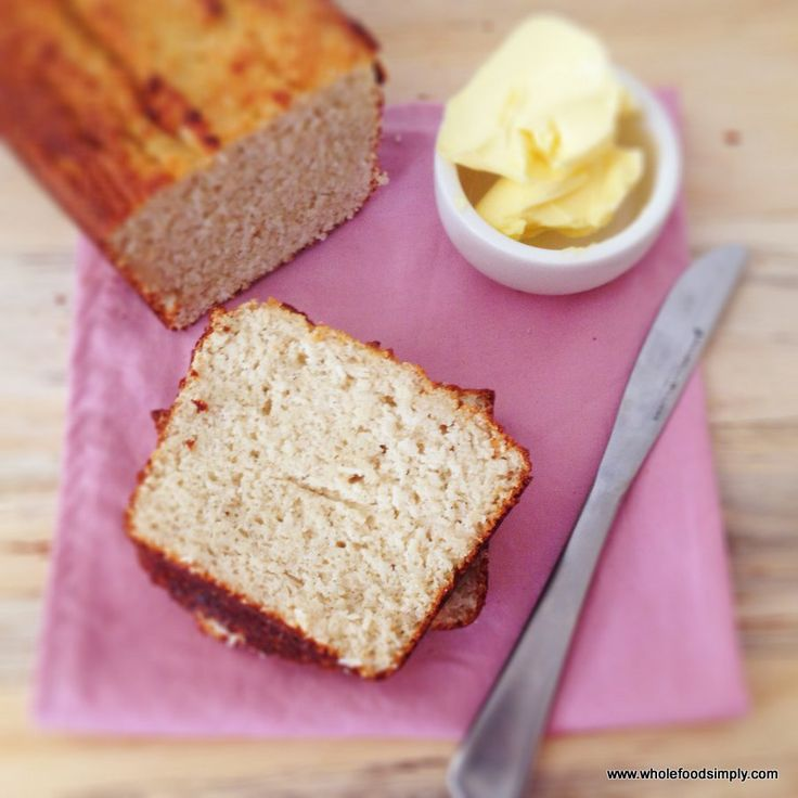 A simple and delicious coconut bread that is free from gluten, grains, nuts and refined sugar. It is divine both toasted and fresh. Enjoy.