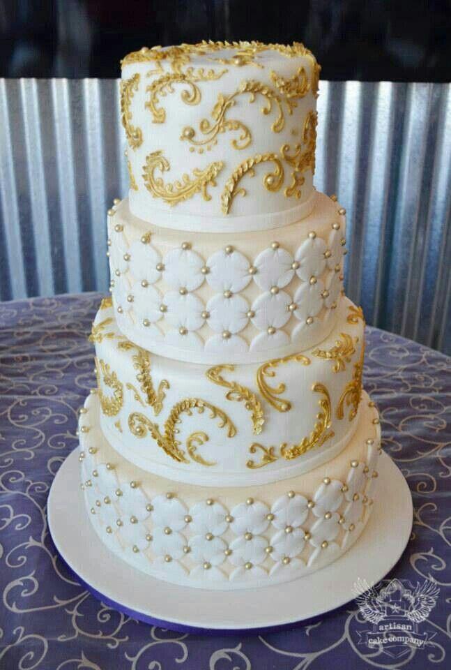 Purple And White Wedding Cakes