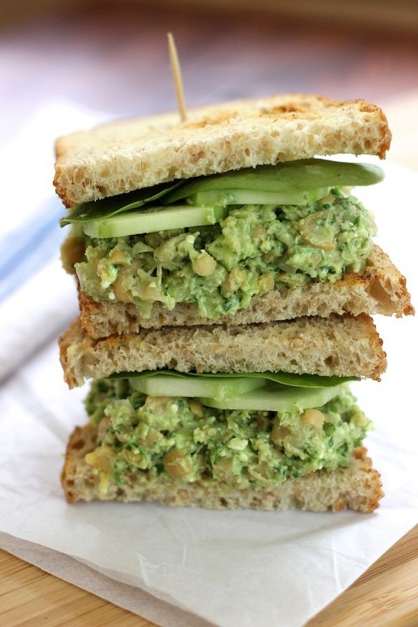 Smashed Chickpea Avocado Sandwich - Green Valley Kitchen