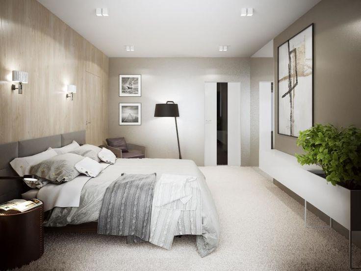 Projekt eleganckiej sypialni w brązach, kremach i szarościach