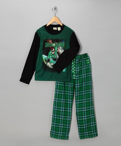 Take a look at this Green & Black 'Green Lantern' Pajama Set - Boys on zulily today!