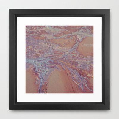 TIDE Framed Art Print by lilla värsting - $31.00