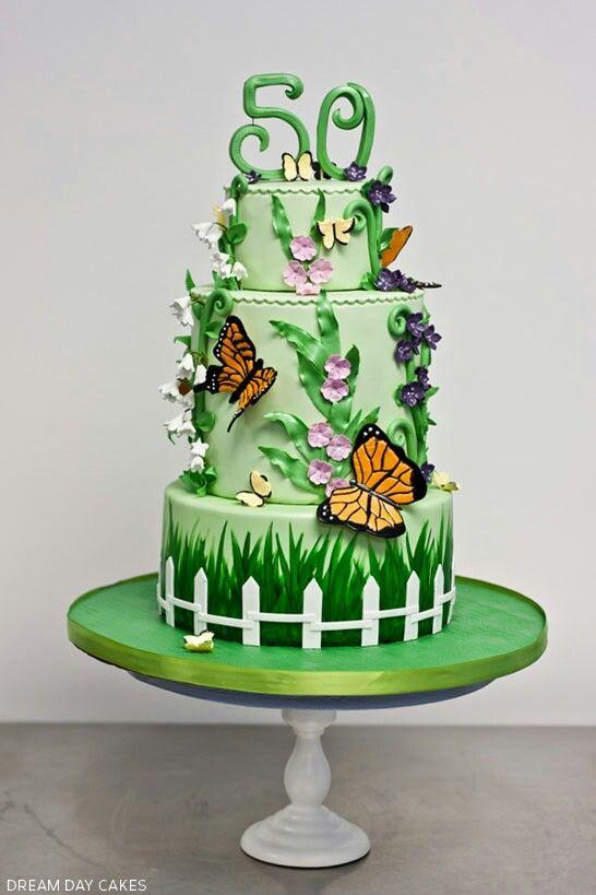 14 best Garden inspired cakes images on Pinterest | Decorating cakes ...