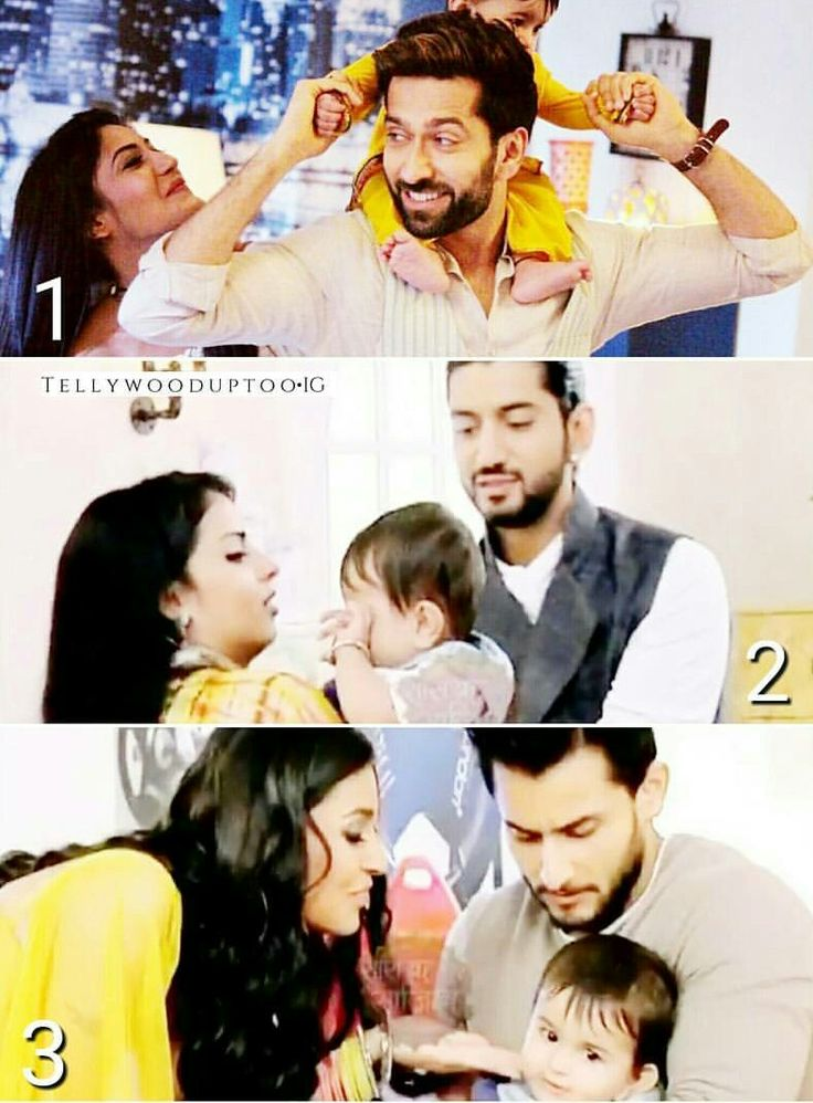 Which is the cutest couple with baby according to u ?? ~The cutest one are on the top #shivika❤