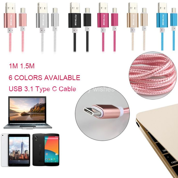 1M Nylon Braided USB Aluminum Fast Charger Type C Data Sync Cable 2.1A for USB Type-C OnePlus2 ZUK-Z1 Xiaomi Mi 4c Letv NOKIA N1 //Price: $US $1.58 & FREE Shipping //     #iphone
