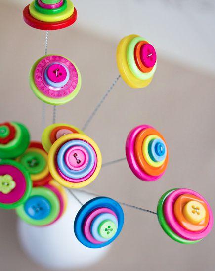 DIY Button Flower Project