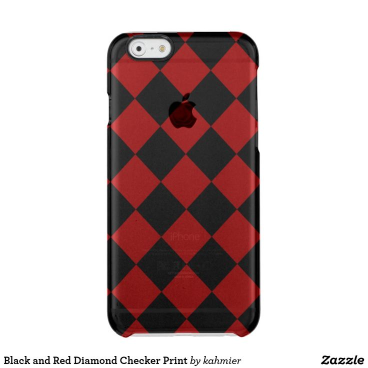 Black and Red Diamond Checker Print Clear iPhone 6/6S Case  25% off