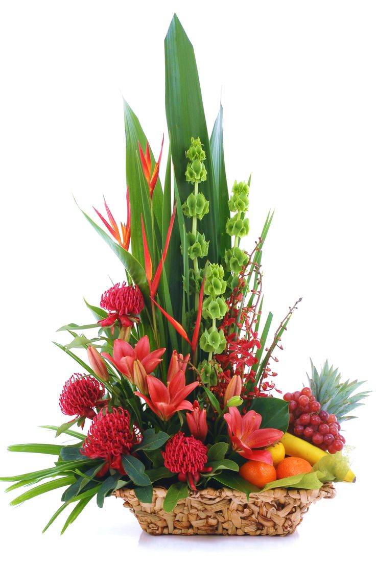 Fruit and flower basket - Donvale Flower Gallery