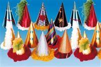 Parlak Desenli, Küçük Parti Şapkası Parti Aksesuarları - Parti Şapkası/Taç Asorti şapkalar: Stok durumuna göre gönderilir.  Şapkalar metalik baskılı karton olup, 23cm boyunda ve 11cm çapındadır, boyuna kaliteli ince lastik ile tutturulur.