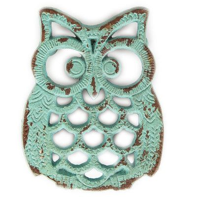 Check this out!! The Kitchen Gift Company have some great deals on Kitchen Gadgets & Gifts Rustic Owl Trivet - Duck Egg Blue #kitchengiftco