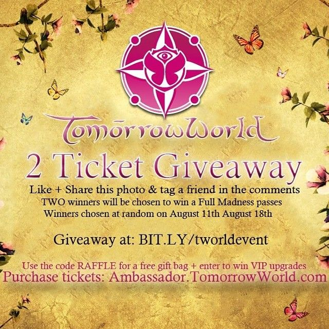 I'm giving away #tomorrowworld tickets to two lucky winners! #edm #festival #giveaway #free #tickets #dance #music #atlanta #lolla #lollapalooza #edc #springawakening #lifeincolor #unleash #lictour #tomorrowland #sensation #mysteryland #mlusa #lollapalooza2014 #chicago #SpringAwakening Check more at…