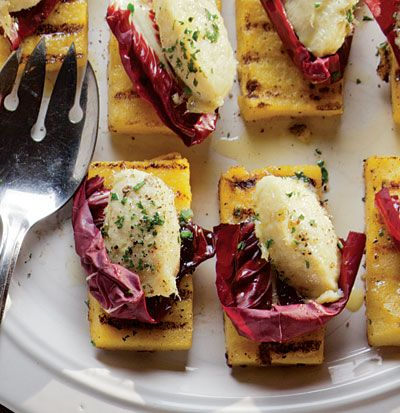 Baccala Mantecato (Grilled Polenta with Dried Cod Mousse) Recipe - Veneto