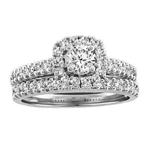 RIN-LCA-2879 14KT White gold 0.30 ctw Glacier Ice Canadian diamond engagement ring. Wedding band NOT included.