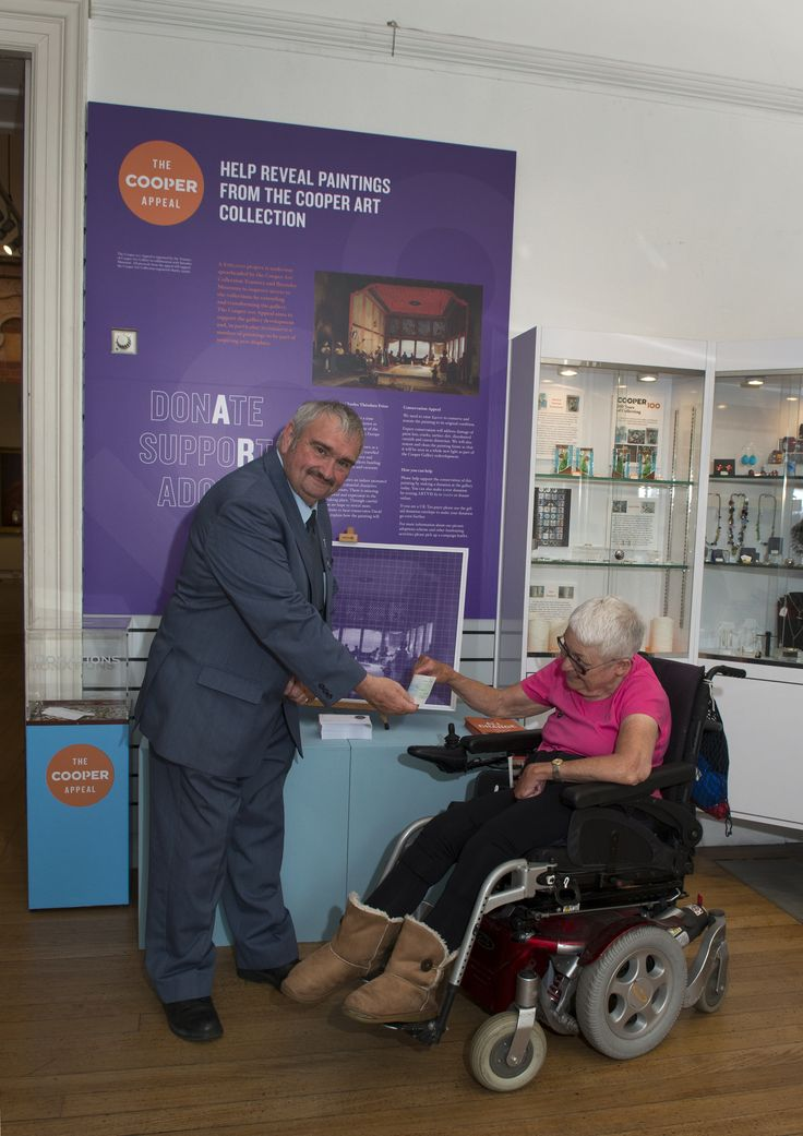 Friends of Cooper gallery present £500 towards the Cooper 100 Appeal - thank you!