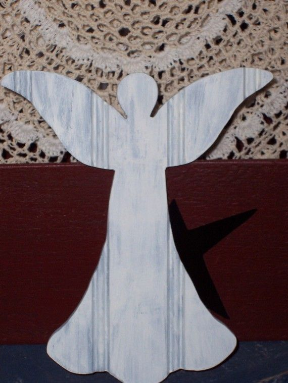 French Country Primitive Painted Wood Angel by heartfeltgiver, $14.99    I want to make these angels and bring to my mom so they surround her while she is resting during her chemo treatments....she loves angels