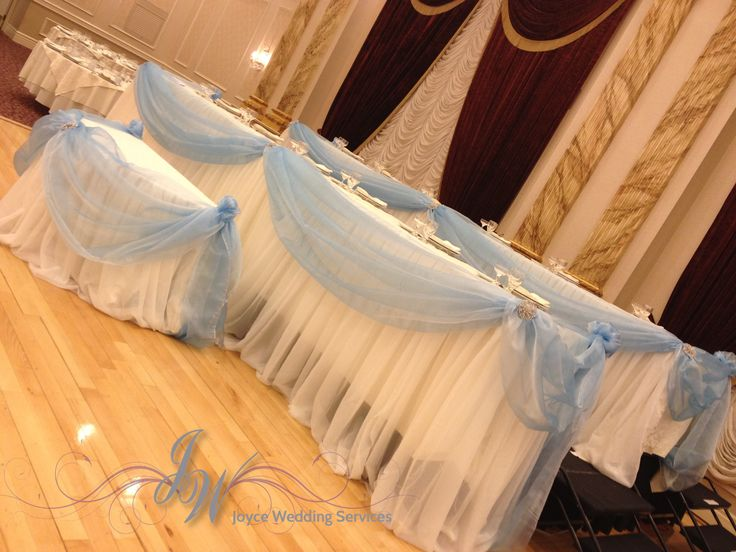 #babyblue #headtable #reception #drapery #sash #weddingday
