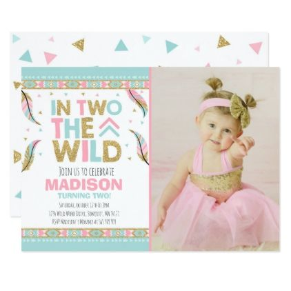 Boho 2nd Birthday Invitation In Two The Wild Party - birthday gifts party celebration custom gift ideas diy