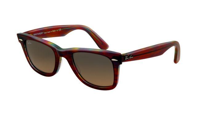 Ray Ban RB2140 Wayfarer Sunglasses Red Tortoise Frame Crystal Brown Polarized Lens