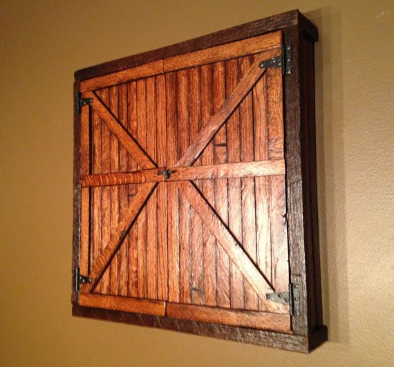 Barnwood Dartboard Cabinet Made To Order Gift Ideas