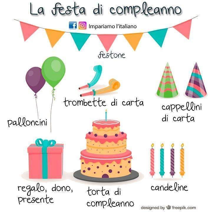 La festa di compleanno #impariamoitaliano #learnitalian #learningitalian #italianvocabulary #studyitalian #linguaitaliana #languages #parliamoitaliano #italianlanguage #languagelearning #italianol2 #aprenderitaliano #speakitalian #italianonline #italianlessons #italianteacher #italianopertutti #italianoperstranieri #italianquiz