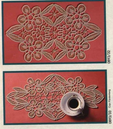 Romanian point lace crochet from the August, 1993 issue of Anna Burda magazine.