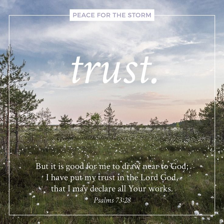 But it is good for me to draw near to God; I have put my trust in the Lord God, that I may declare all Your works. Psalms 73:28 (NKJV)