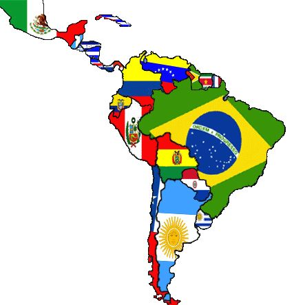El sur America y su naziones
