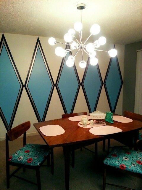 Dining room 1963 ranch Paradise Palms Las Vegas, NV. LOVE that wall!