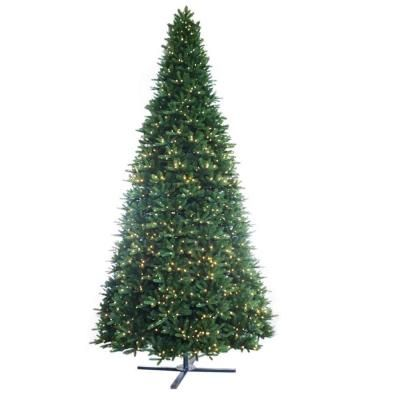 Martha Stewart Living 15 ft. Regal Fir Pre-Lit Artificial Christmas Tree with Dual Function LEDs-7205009-62 at The Home Depot - - 7.75' base.