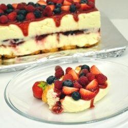 P Allen Smith Cheesecake Recipe | No-bake white chocolate cheesecake with berries