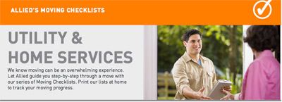 A new downloadable checklist is available that outlines the utility services to connect with before you begin moving.