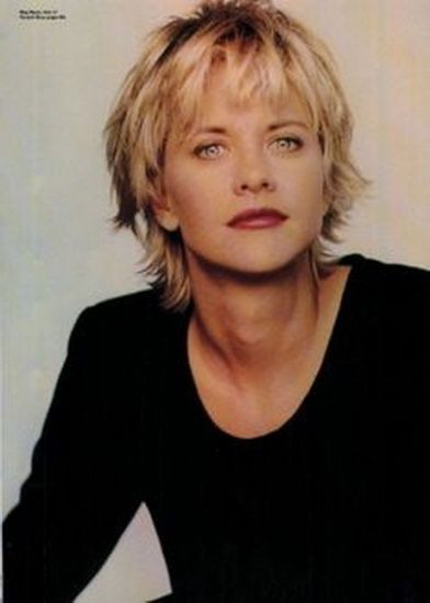"Top 9 Meg Ryan Hairstyles | Styles At Life [   ""Here are the top 9 Meg Ryan Hairstyles that you can choose and get your hair styled like a celeb!"",   ""This cut is timeless."",   ""Shag with short bangs"",   ""All it takes is a few simple tweaks to transform your go-to workout style into a"