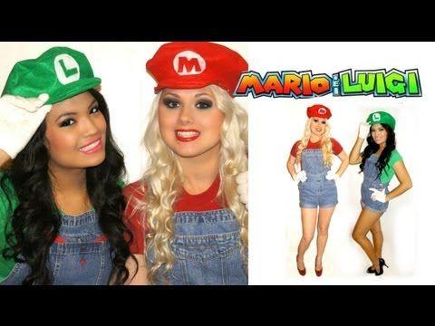 mario and luigi halloween costumes for girls - Girl Mario And Luigi Halloween Costumes
