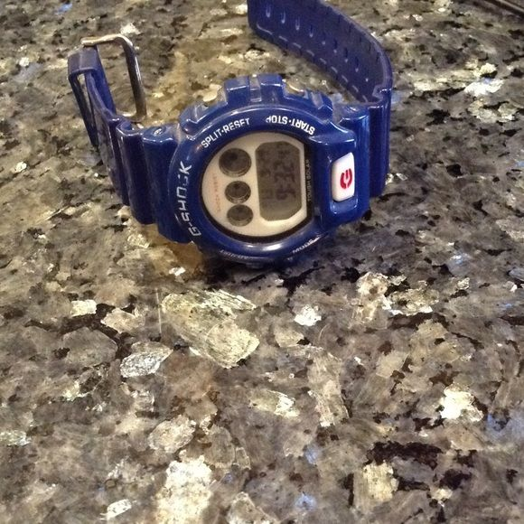 Blue g shock Blue g shock.  Needs battery G shock Accessories Watches