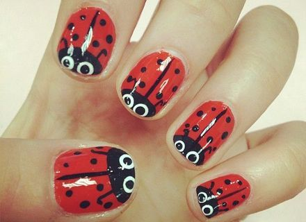Image result for ladybug nail design