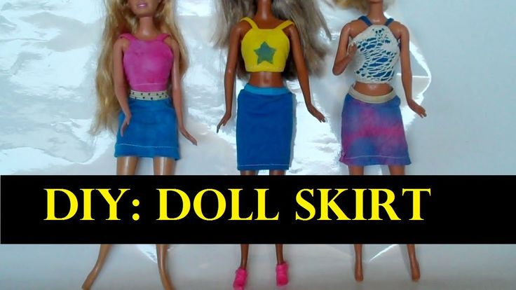 how to make a doll skirt