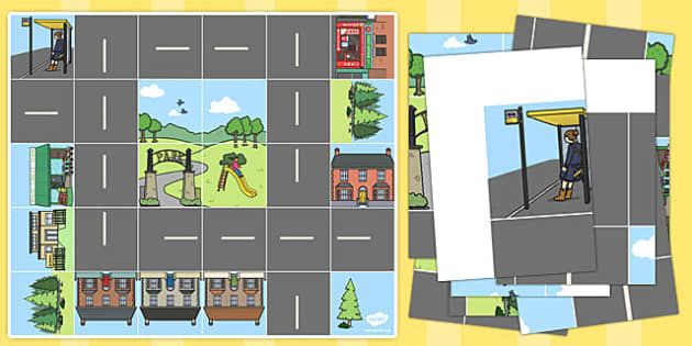 Bee-Bot Road and Buildings Mat