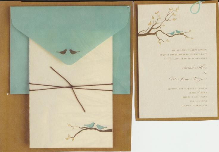 Love bird invitations