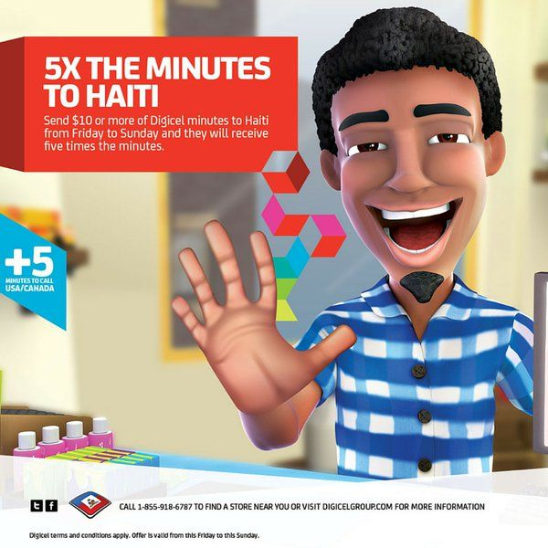 ANNOUNCING! Digicel Haiti 5x BUBBLE Weekend from April 15th - 17th 2016.